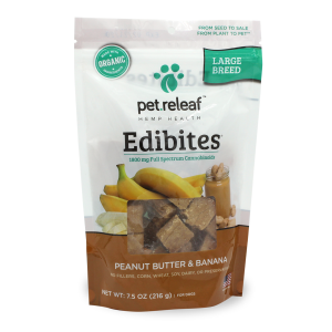 Elixinol Pet Releaf Edibites Peanut Butter & Banana Treat