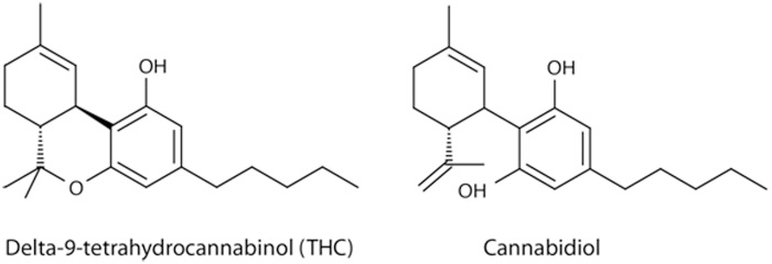 chemical structure of cbd vs thc
